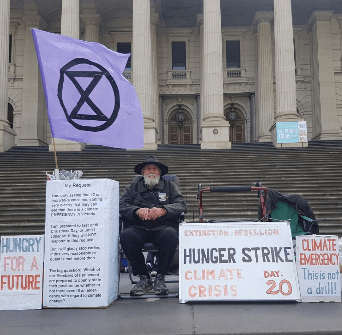 Hunger strike, old dude