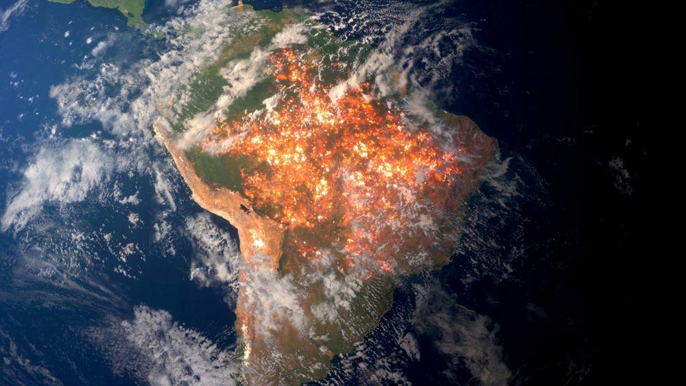 south america fire