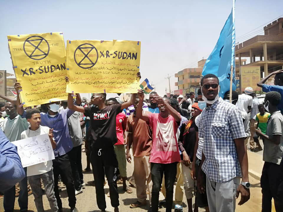 Rebels from XR Sudan demonstrate in Khartoum.