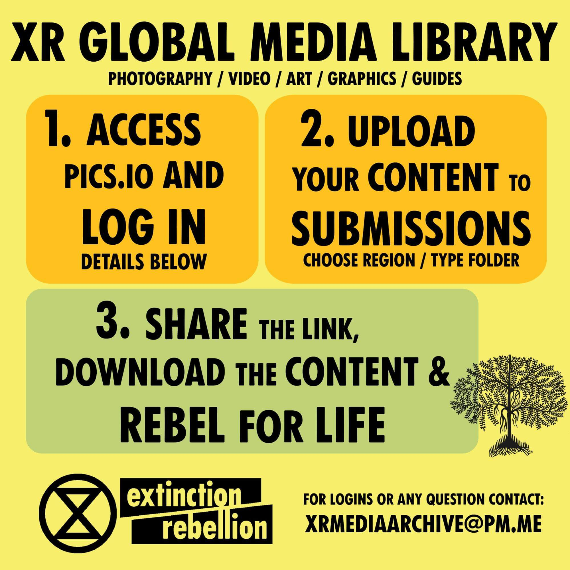 XR Global Media Library graphic.