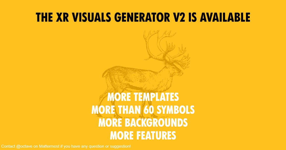 XR Visuals Generator graphic.