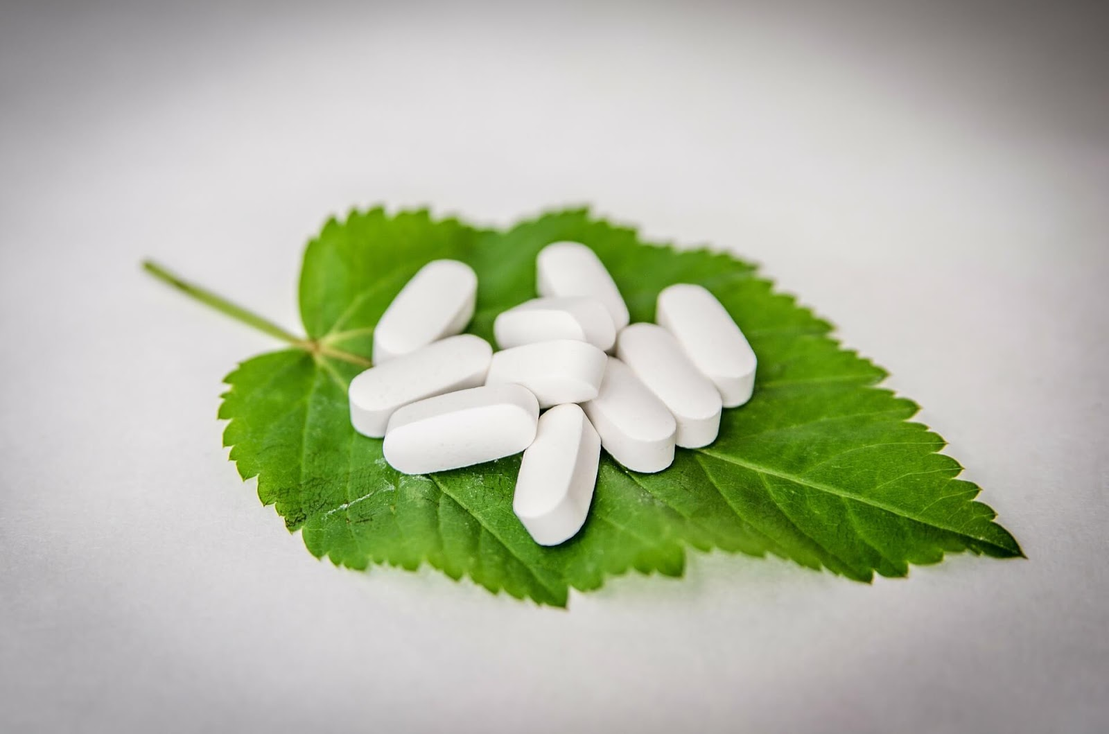 Pills on a leaf