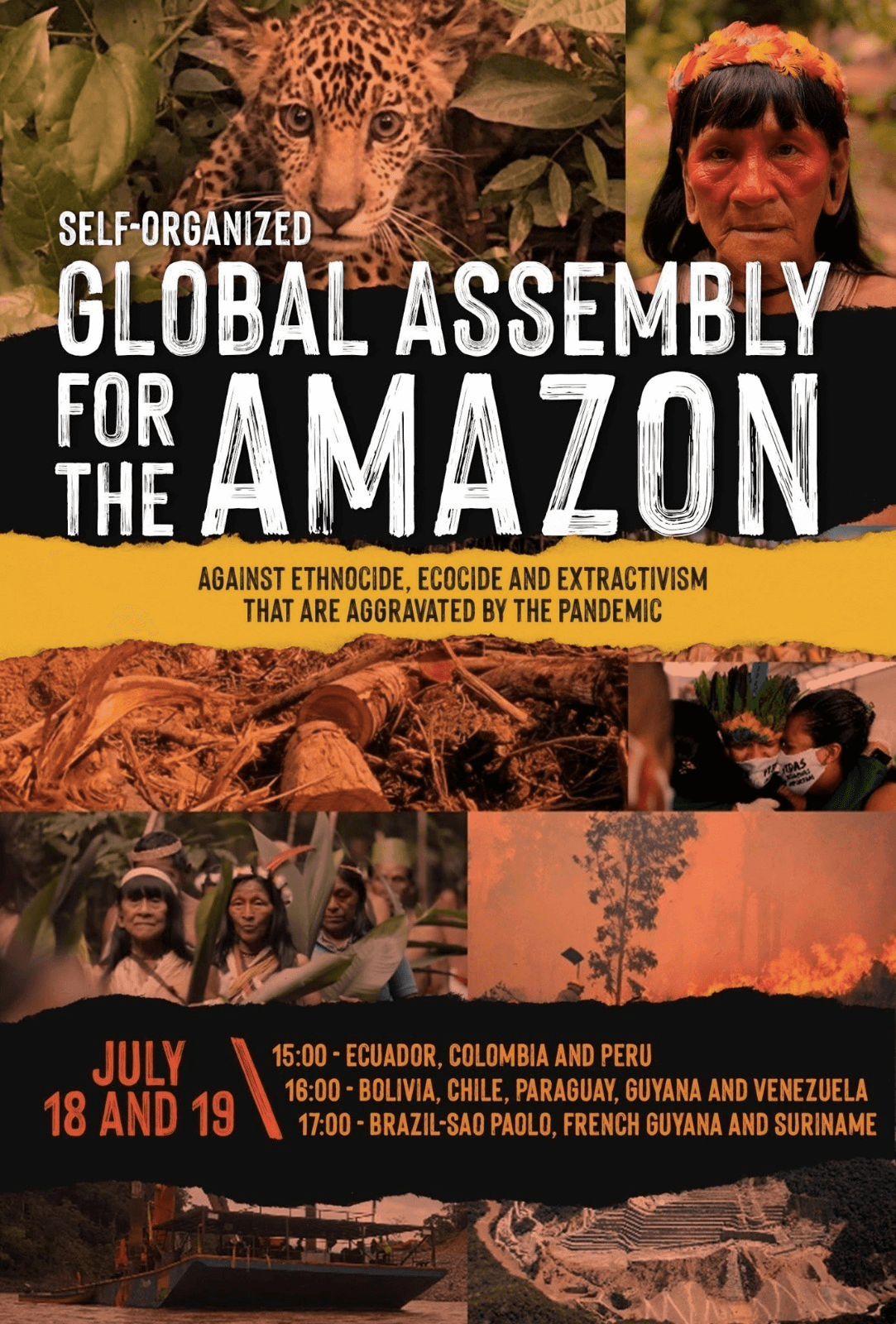 "Poster for ""Global Assembly for the Amazon."""