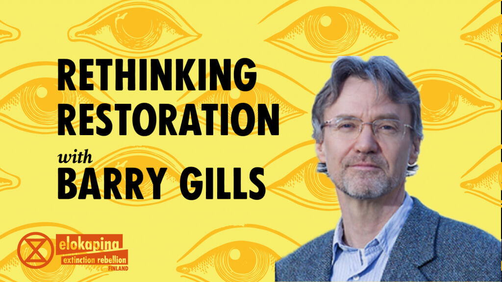 Rethinking Restoration with Barry Gills flyer