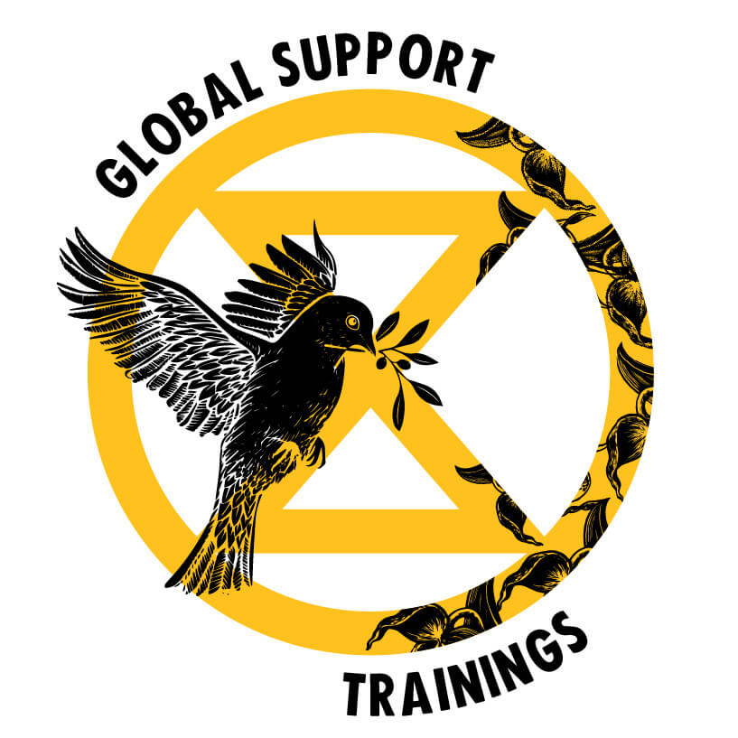 Extinction Rebellion Global Support logo