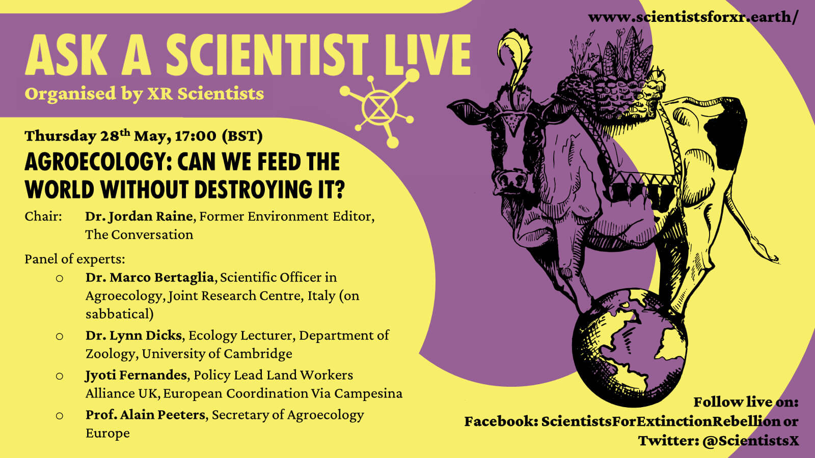 XR Ask a Scientist Live flyer