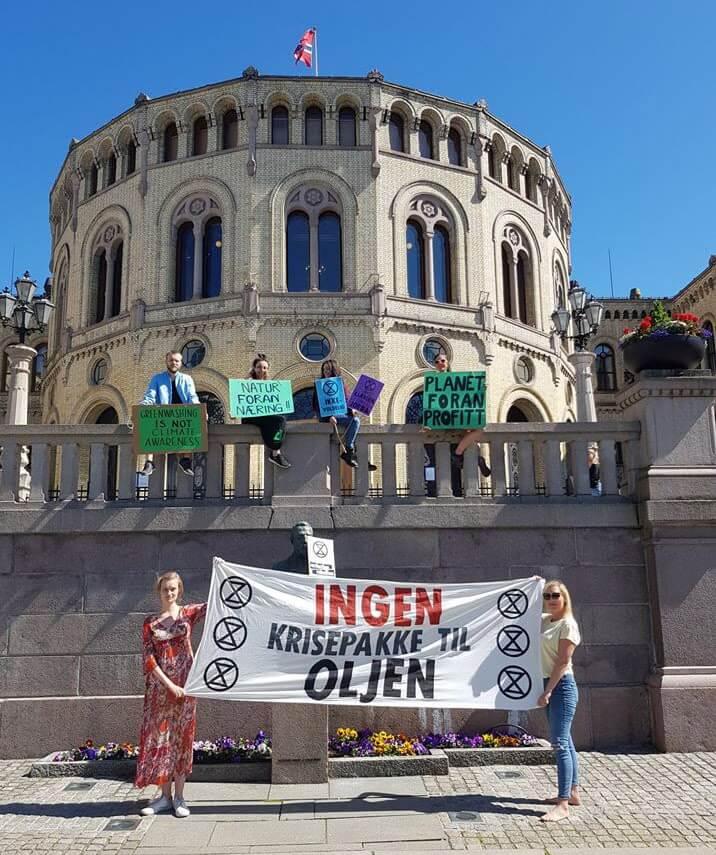 Rebels protesting in Norway