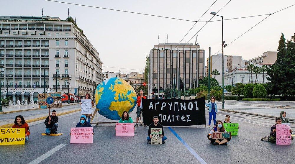 Rebels protesting in Greece