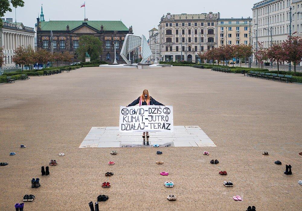 Rebel Protesting in Poland