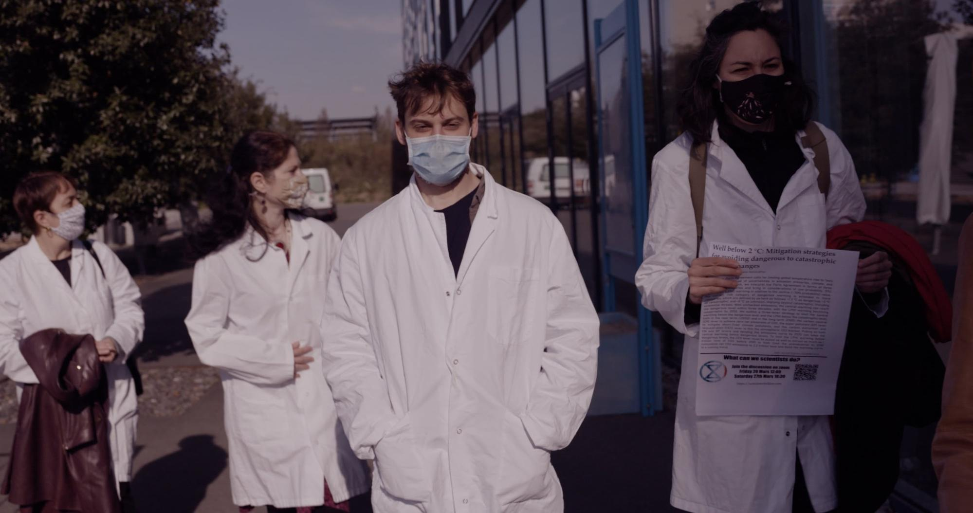 Scientists in Lausanne, Switzerland prepare for direct action.