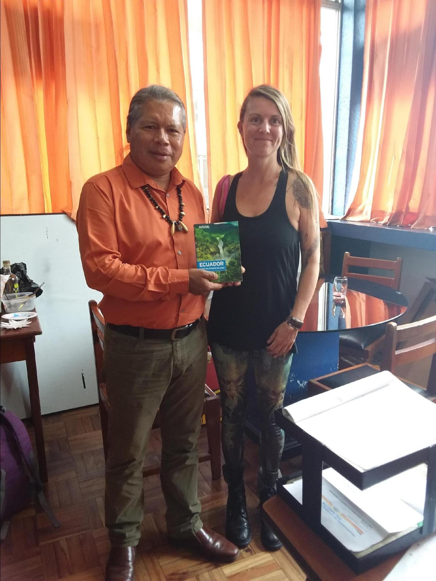Beth Pitts (author) with Jose Gualinga