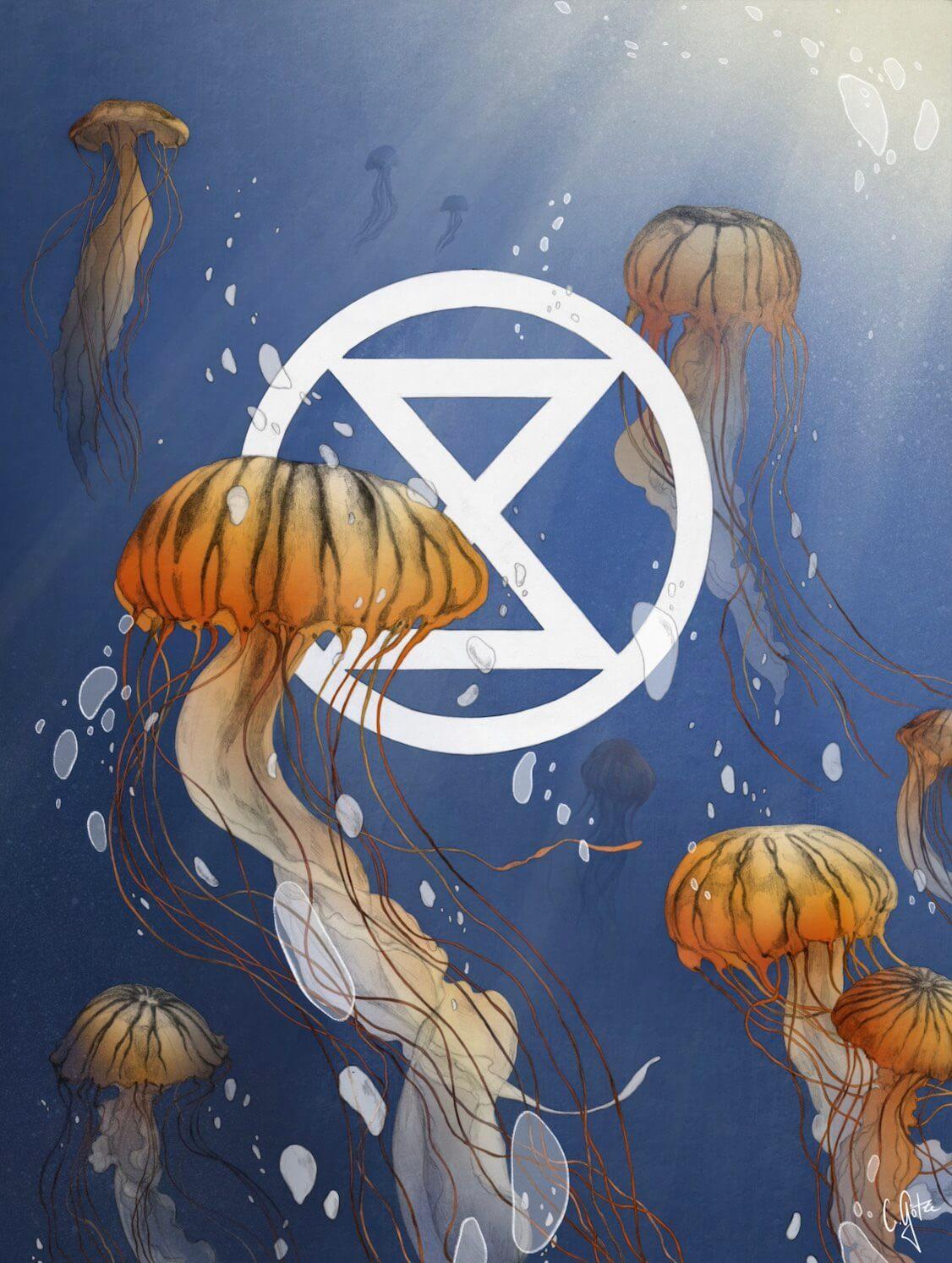 XR Symbol with jellyfish