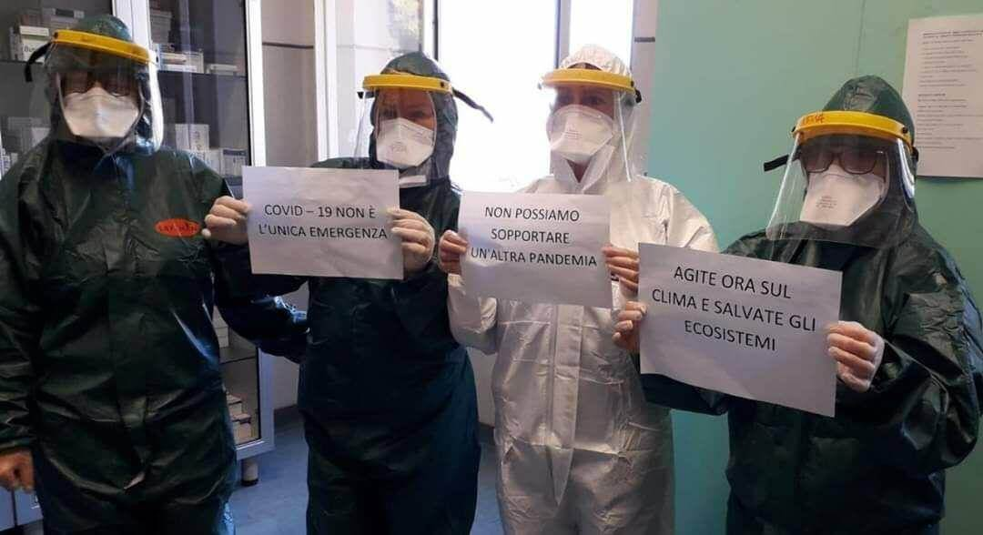 Hospital workers in Bari demand we protect ecosystems to stop contact with new pathogens